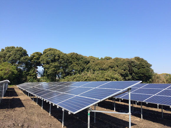 福岡県小郡市A 216.0kw 売電開始しました。
